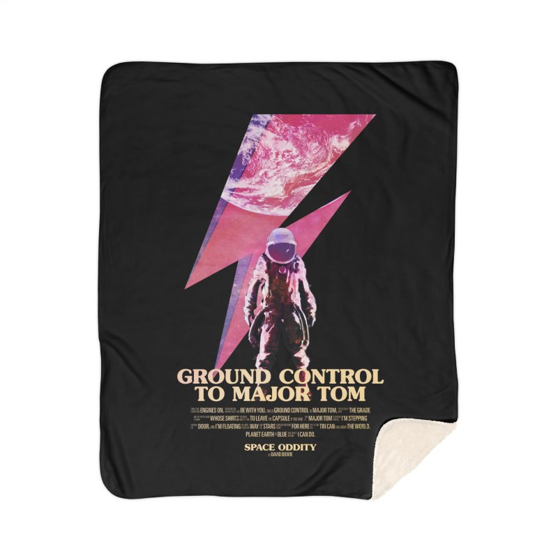 Space Oddity Home Sherpa Blanket Blanket by Pablo Zarate Inc. on Threadless