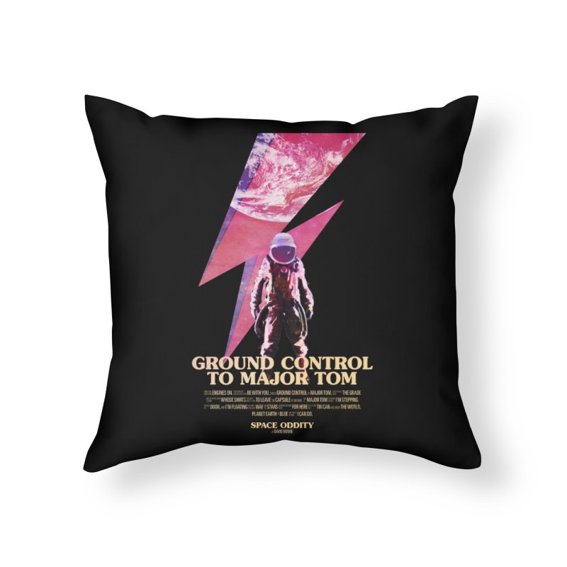 Space Oddity Home Throw Pillow by Pablo Zarate Inc. on Threadless
