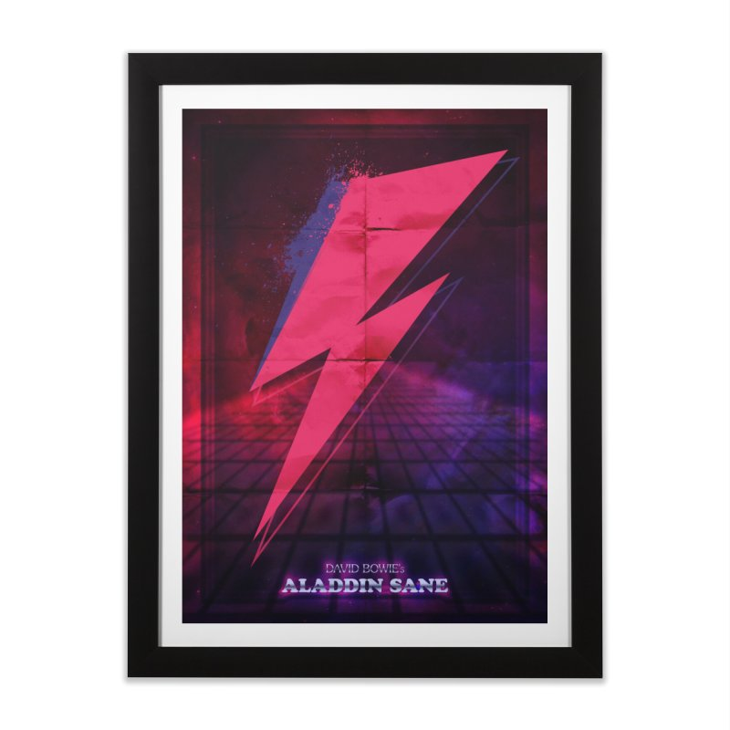 David Bowies's Aladdin Sane Home Framed Fine Art Print by Pablo Zarate Inc. on Threadless