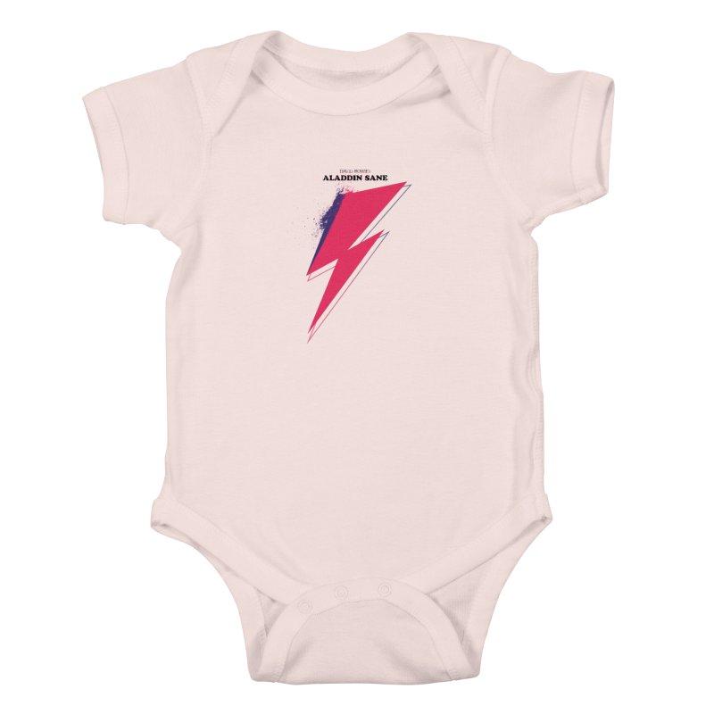 David Bowies's Aladdin Sane Kids Baby Bodysuit by Pablo Zarate Inc. on Threadless