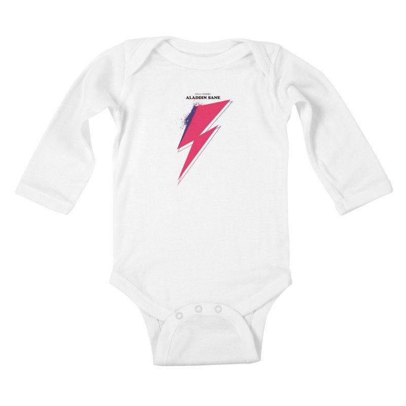 David Bowies's Aladdin Sane Kids Baby Longsleeve Bodysuit by Pablo Zarate Inc. on Threadless