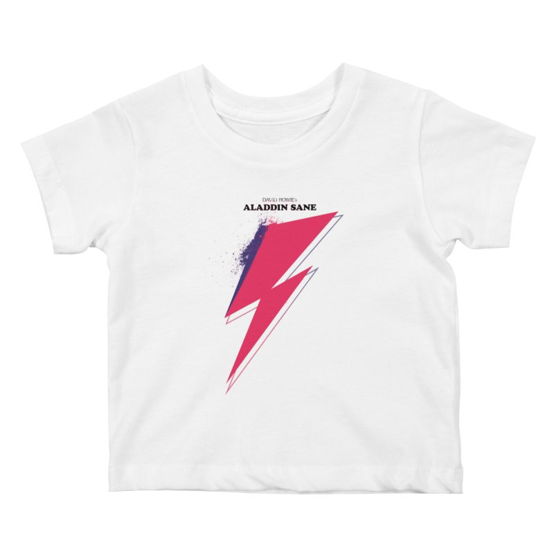David Bowies's Aladdin Sane Kids Baby T-Shirt by Pablo Zarate Inc. on Threadless