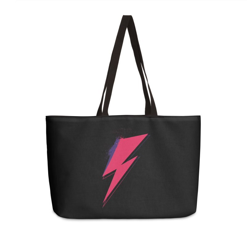 David Bowies's Aladdin Sane Accessories Weekender Bag Bag by Pablo Zarate Inc. on Threadless