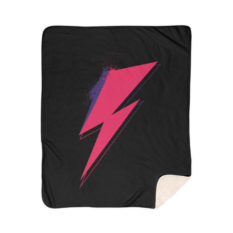 David Bowies's Aladdin Sane Home Sherpa Blanket Blanket by Pablo Zarate Inc. on Threadless