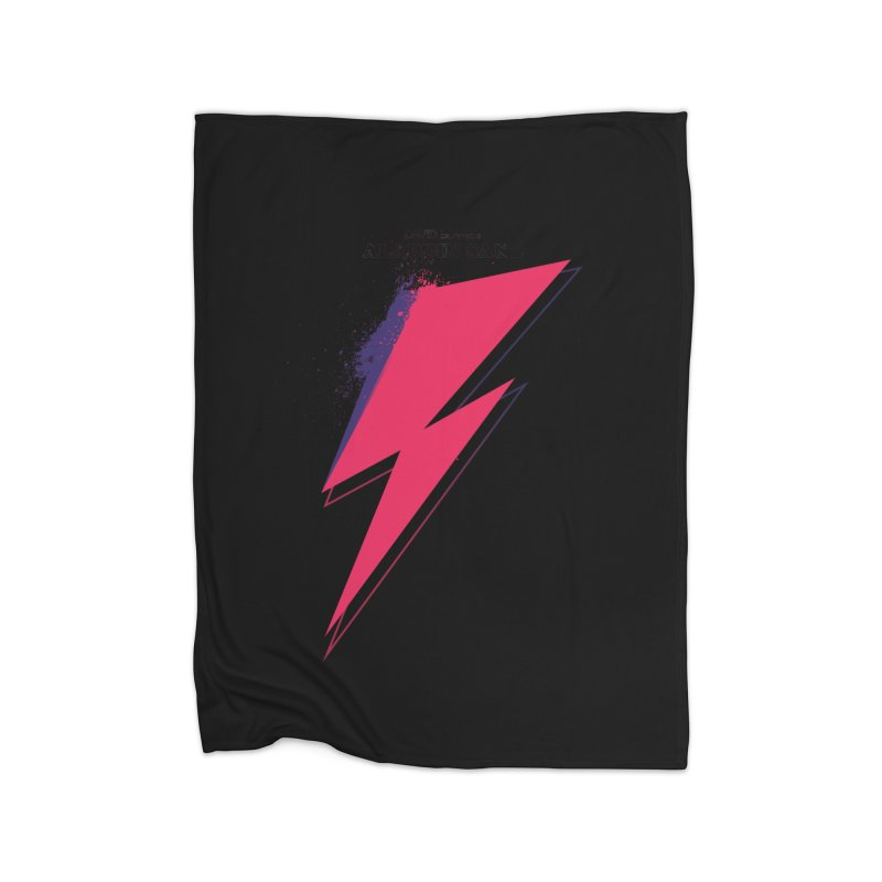 David Bowies's Aladdin Sane Home Fleece Blanket by Pablo Zarate Inc. on Threadless