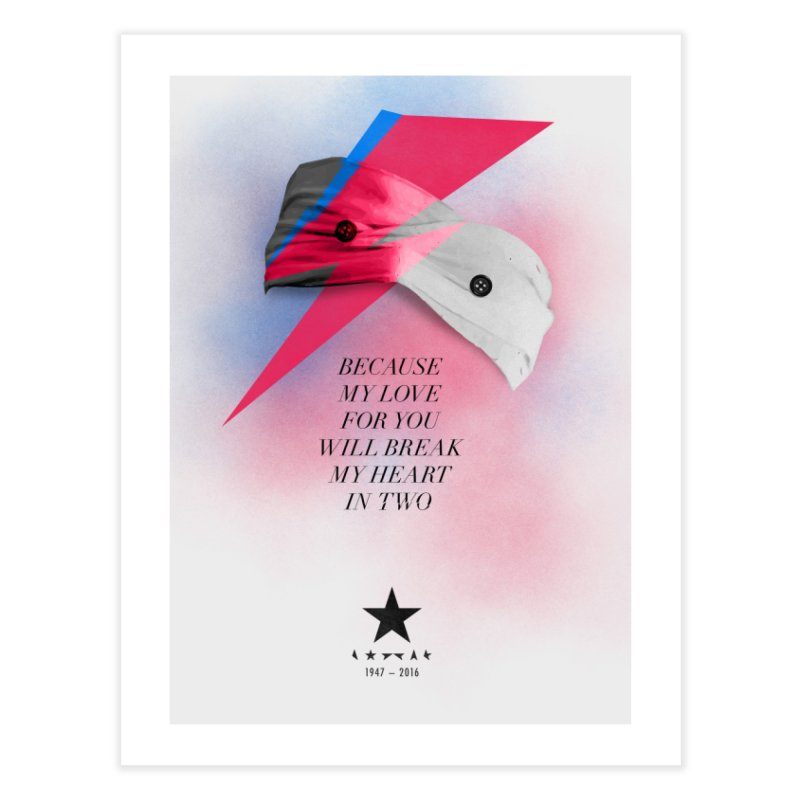 Blackstar (From Mars) Home Fine Art Print by Pablo Zarate Inc. on Threadless