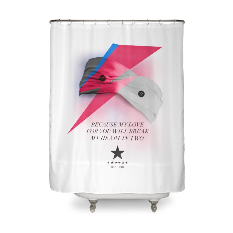 Blackstar (From Mars) Home Shower Curtain by Pablo Zarate Inc. on Threadless