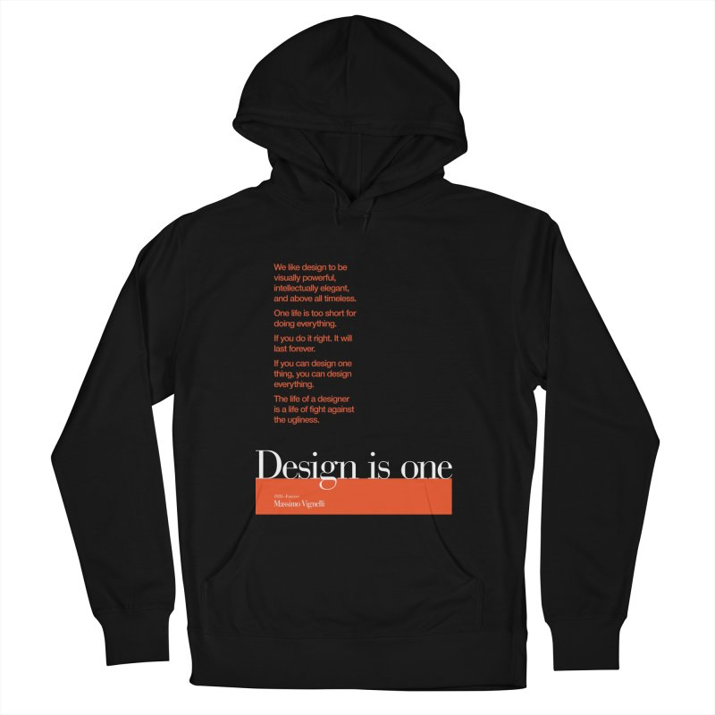 Design is One — #DearMassimo Men's Pullover Hoody by Pablo Zarate Inc. on Threadless