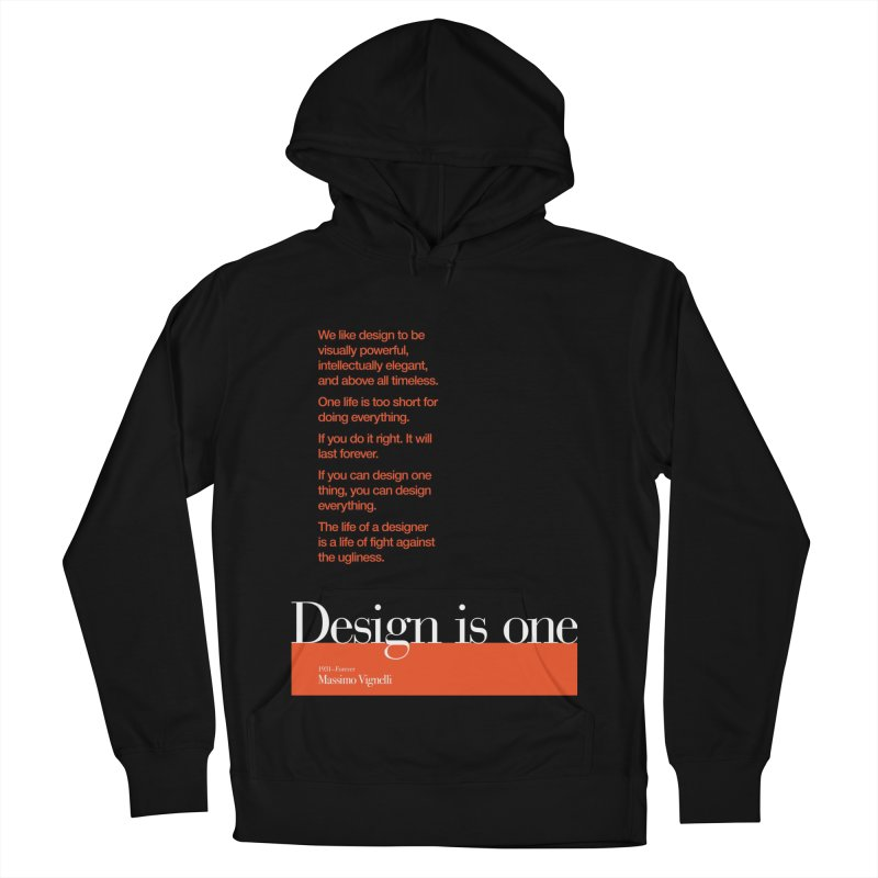 Design is One — #DearMassimo Men's French Terry Pullover Hoody by Pablo Zarate Inc. on Threadless