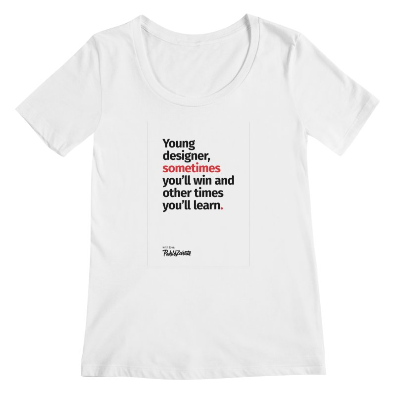 Young Designer #02 Women's Regular Scoop Neck by Pablo Zarate Inc. on Threadless