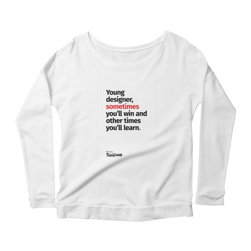 Young Designer #02 Women's Scoop Neck Longsleeve T-Shirt by Pablo Zarate Inc. on Threadless
