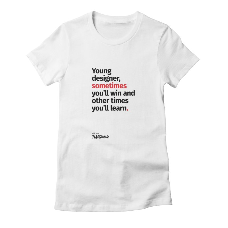 Young Designer #02 Women's Fitted T-Shirt by Pablo Zarate Inc. on Threadless