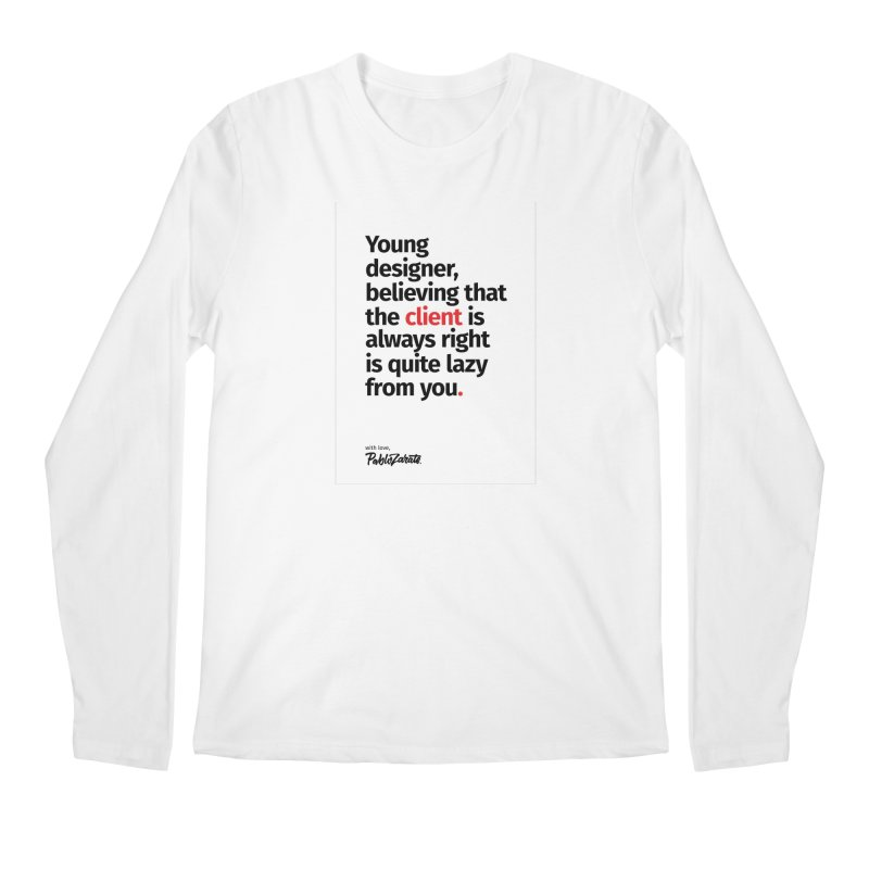 Young Designer #04 Men's Regular Longsleeve T-Shirt by Pablo Zarate Inc. on Threadless