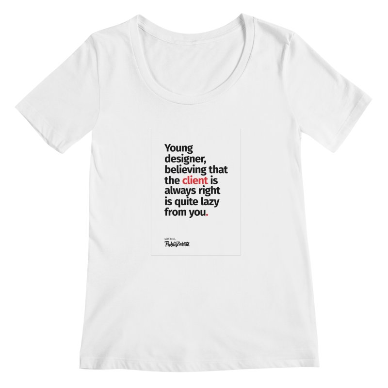 Young Designer #04 Women's Scoopneck by Pablo Zarate Inc. on Threadless