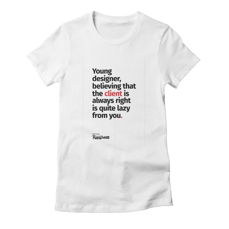 Young Designer #04 Women's Fitted T-Shirt by Pablo Zarate Inc. on Threadless