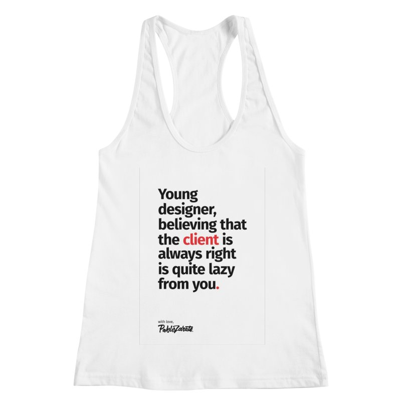 Young Designer #04 Women's Racerback Tank by Pablo Zarate Inc. on Threadless