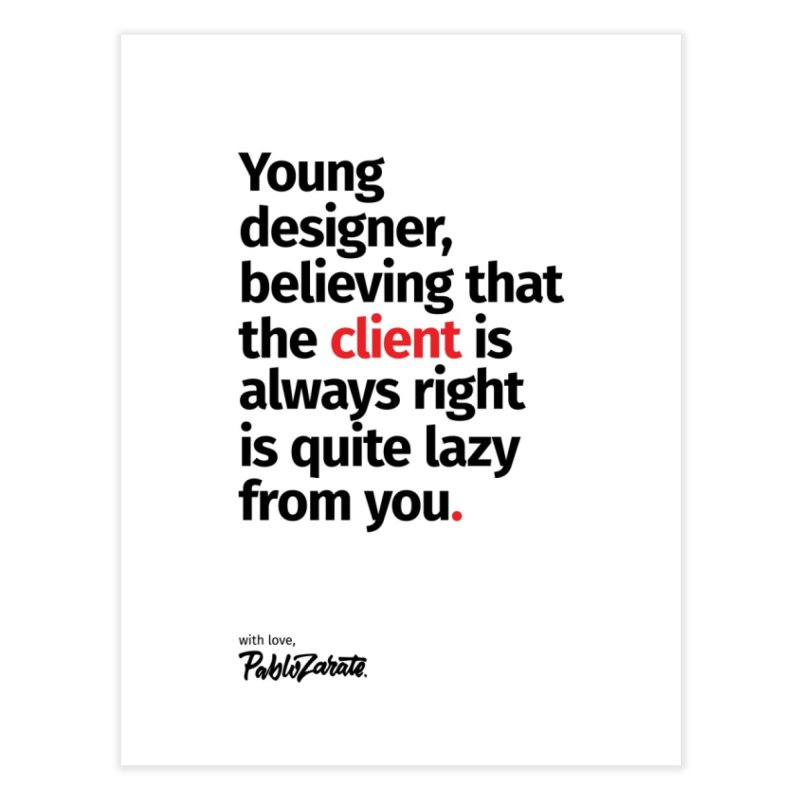Young Designer #04 Home Fine Art Print by Pablo Zarate Inc. on Threadless