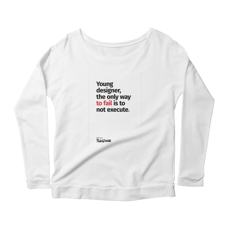 Young Designer #06 Women's Scoop Neck Longsleeve T-Shirt by Pablo Zarate Inc. on Threadless