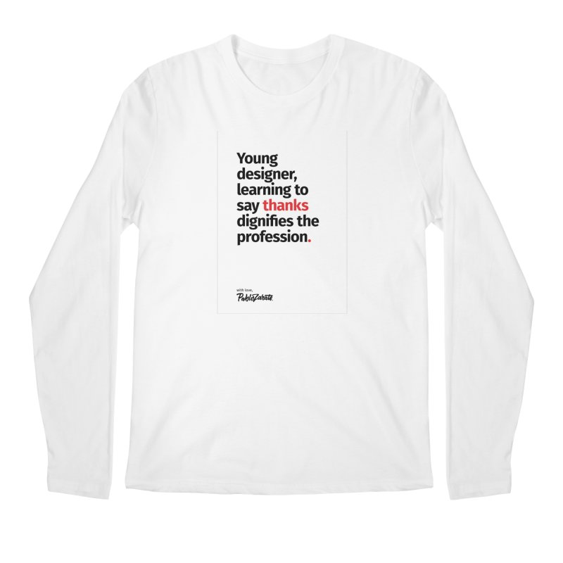Young Designer #07 Men's Regular Longsleeve T-Shirt by Pablo Zarate Inc. on Threadless