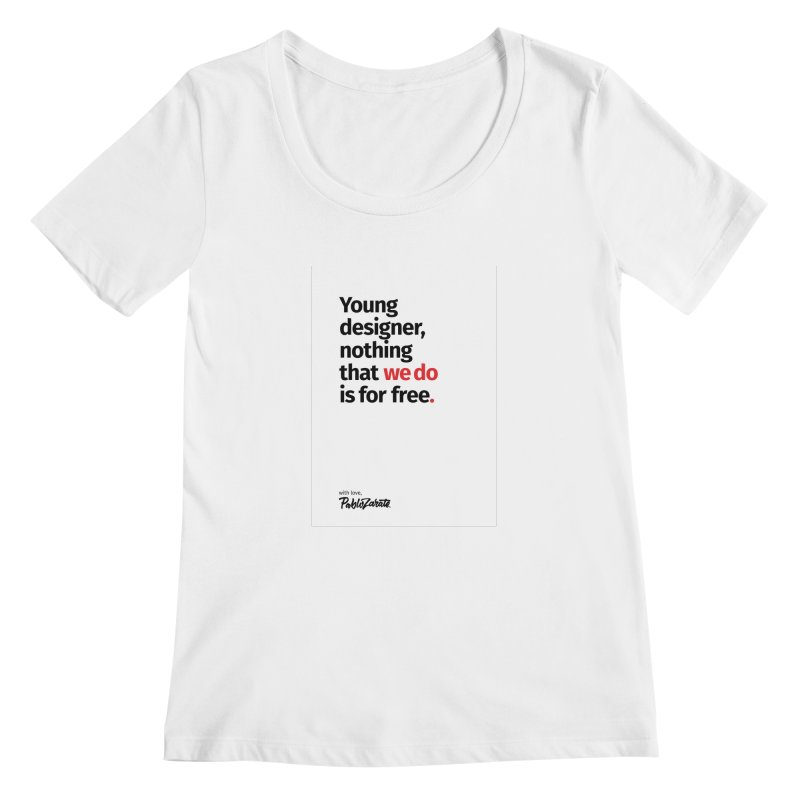 Young Designer #08 Women's Scoopneck by Pablo Zarate Inc. on Threadless