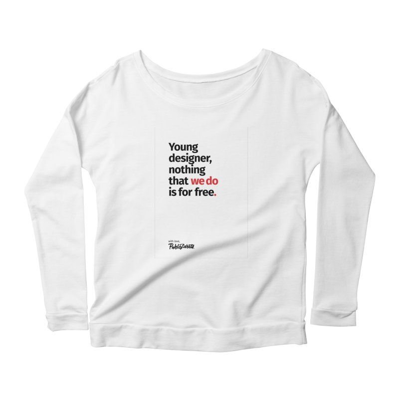 Young Designer #08 Women's Longsleeve Scoopneck  by Pablo Zarate Inc. on Threadless