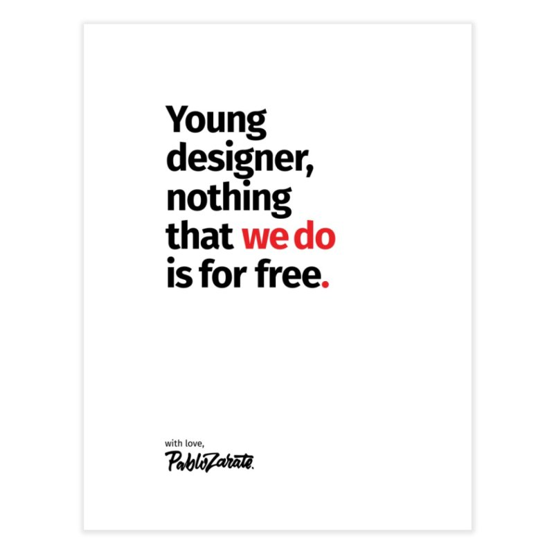 Young Designer #08 Home Fine Art Print by Pablo Zarate Inc. on Threadless