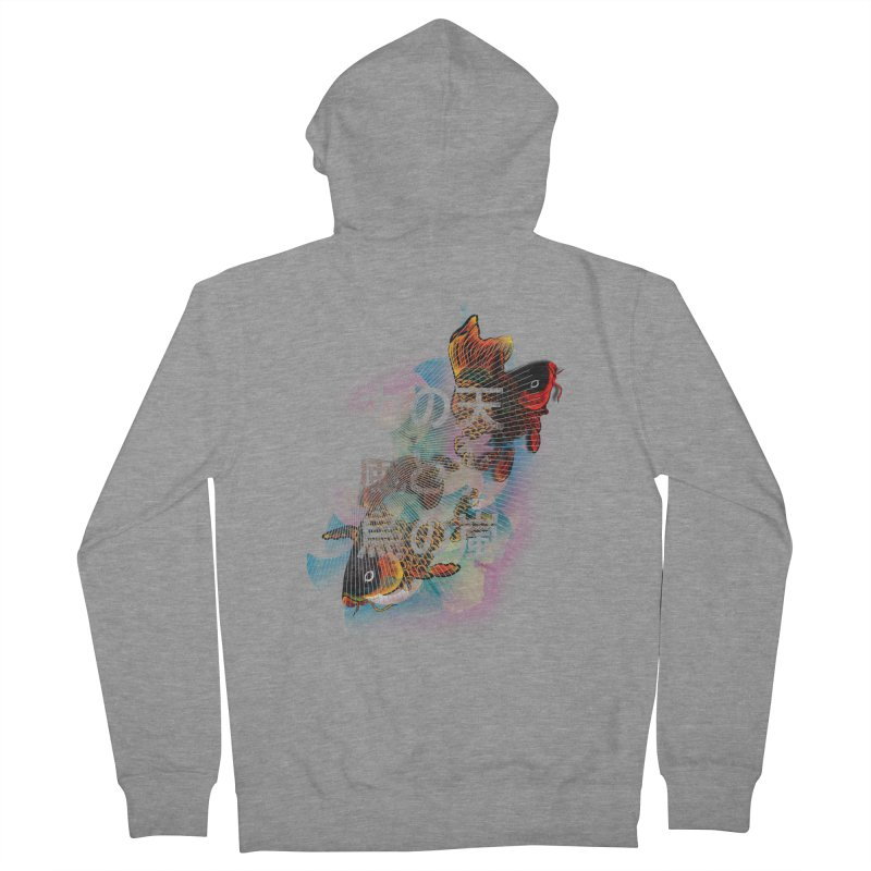 Flying Carps Men's Zip-Up Hoody by pacografico's Artist Shop