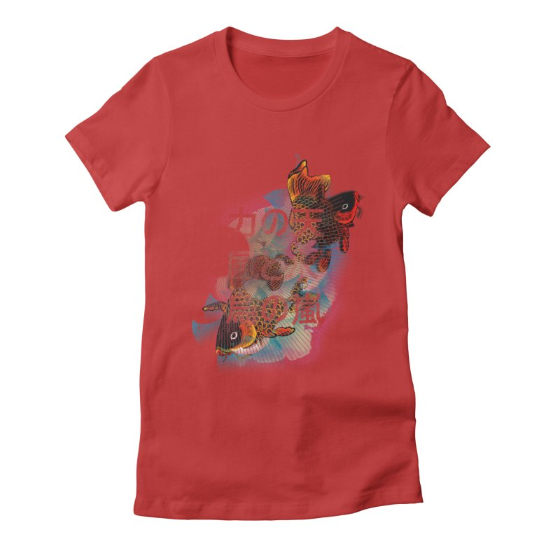 Flying Carps Women's Fitted T-Shirt by pacografico's Artist Shop