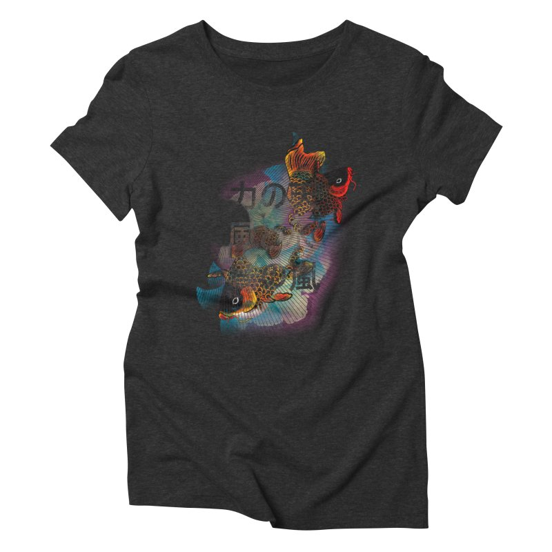 Flying Carps Women's Triblend T-Shirt by pacografico's Artist Shop