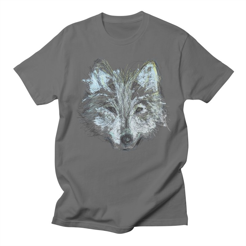 White Wolf Men's T-Shirt by pacografico's Artist Shop