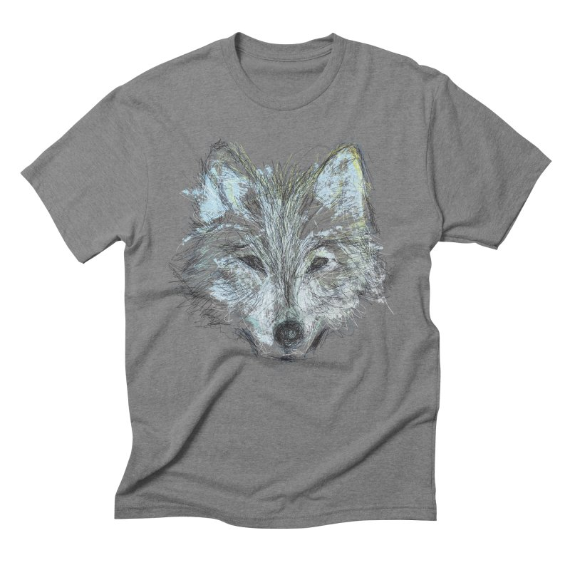 White Wolf Men's Triblend T-Shirt by pacografico's Artist Shop