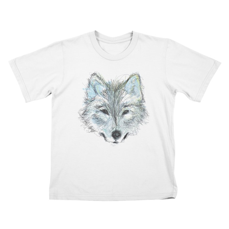 White Wolf Kids T-Shirt by pacografico's Artist Shop