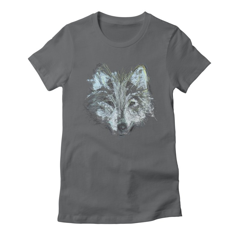 White Wolf Women's Fitted T-Shirt by pacografico's Artist Shop