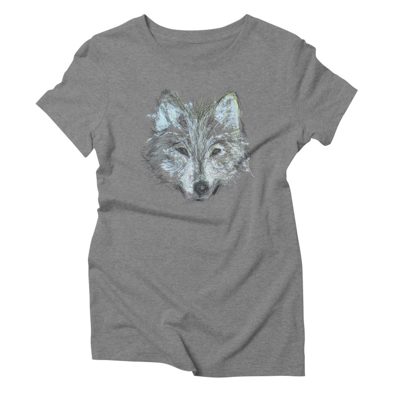 White Wolf Women's Triblend T-shirt by pacografico's Artist Shop