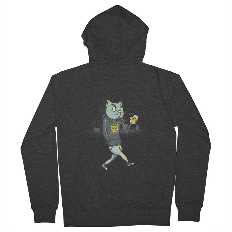 Night Cat Men's Zip-Up Hoody by pacografico's Artist Shop