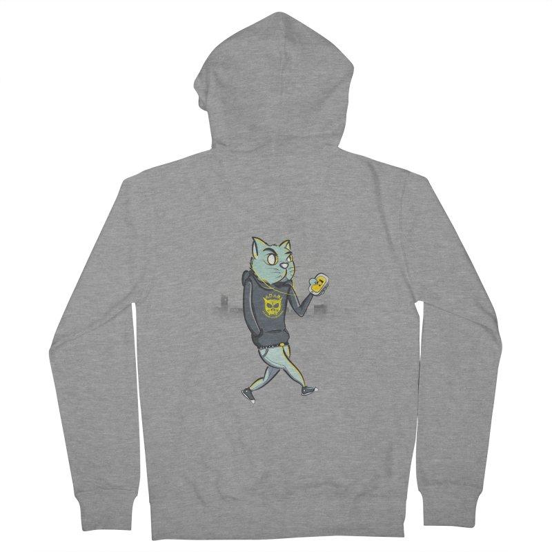 Night Cat Men's Zip-Up Hoody by pacografico's Artist Shop
