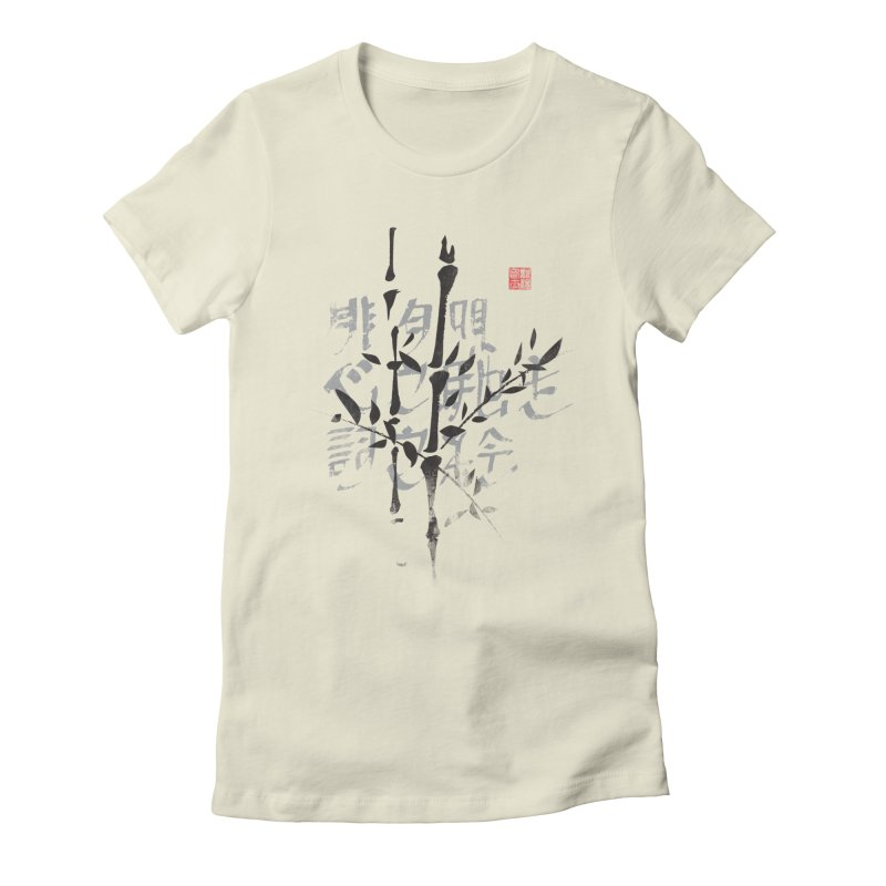 Bamboo Haiku Women's Fitted T-Shirt by pacografico's Artist Shop