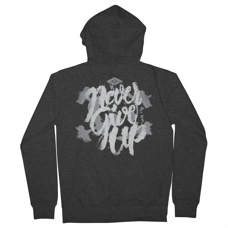 Skull Never Give Up Men's Zip-Up Hoody by pacografico's Artist Shop