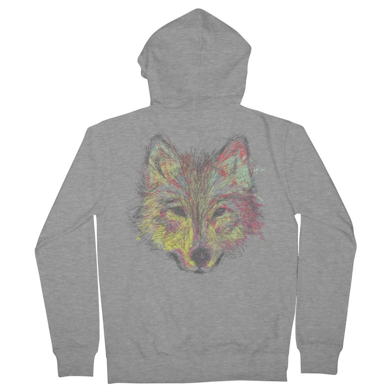 Wolf in Colors Men's Zip-Up Hoody by pacografico's Artist Shop