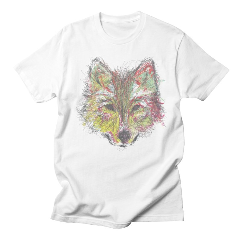 Wolf in Colors Men's T-shirt by pacografico's Artist Shop