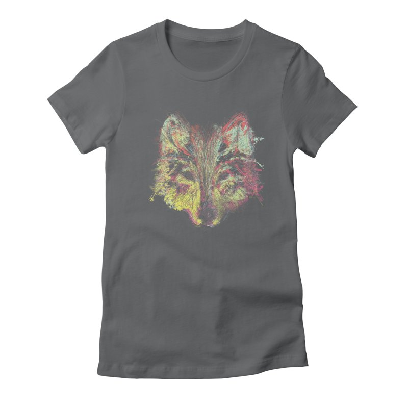 Wolf in Colors Women's Fitted T-Shirt by pacografico's Artist Shop