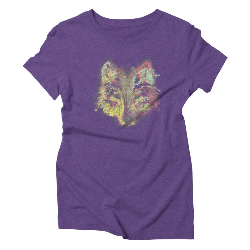 Wolf in Colors Women's Triblend T-shirt by pacografico's Artist Shop