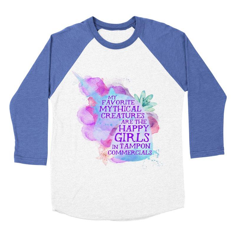 Mythical Women's Baseball Triblend Longsleeve T-Shirt by Paddy Ribeiro