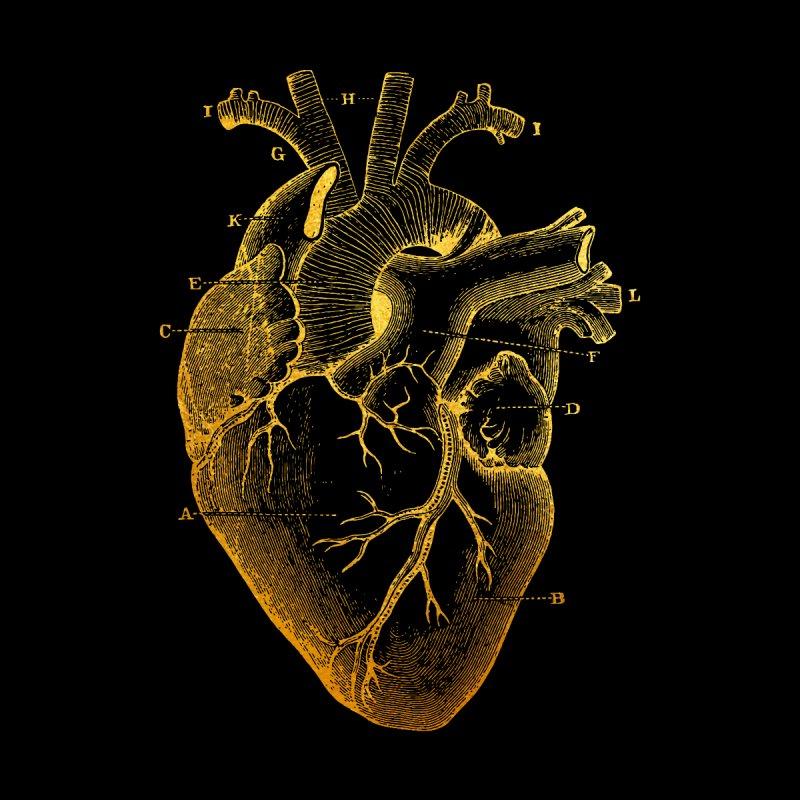 Heart Of Gold Men's Zip-Up Hoody by Paddy Ribeiro