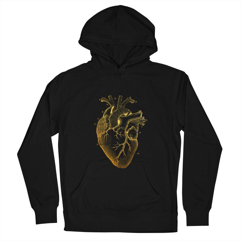 Heart Of Gold Men's French Terry Pullover Hoody by Paddy Ribeiro