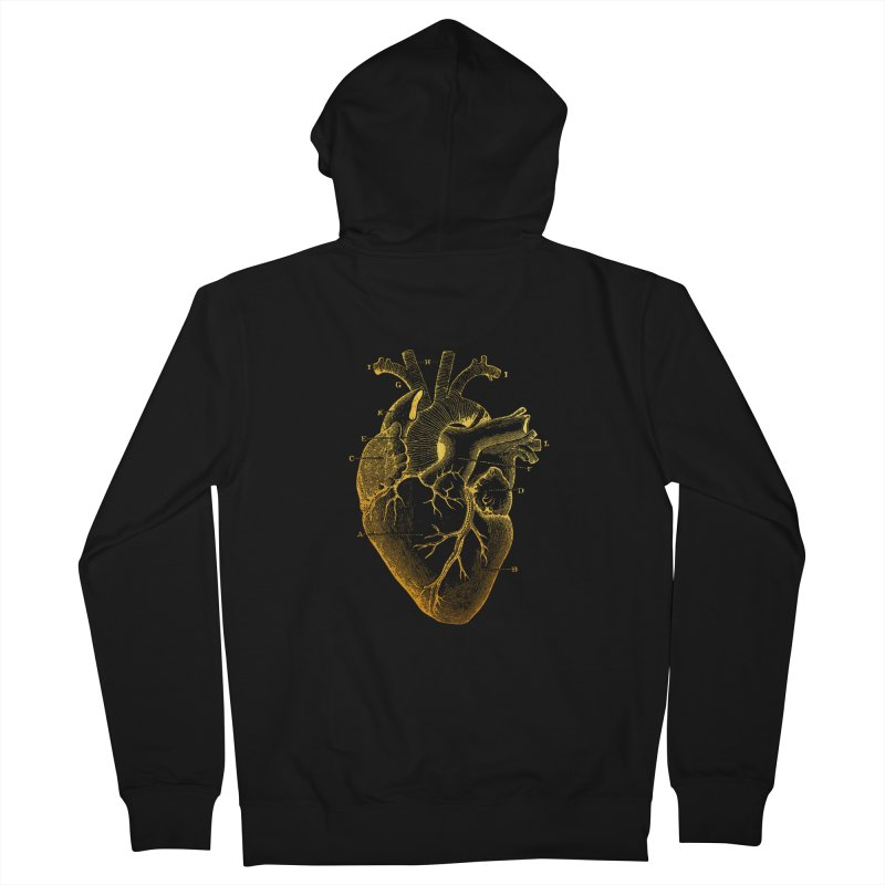 Heart Of Gold Men's French Terry Zip-Up Hoody by Paddy Ribeiro