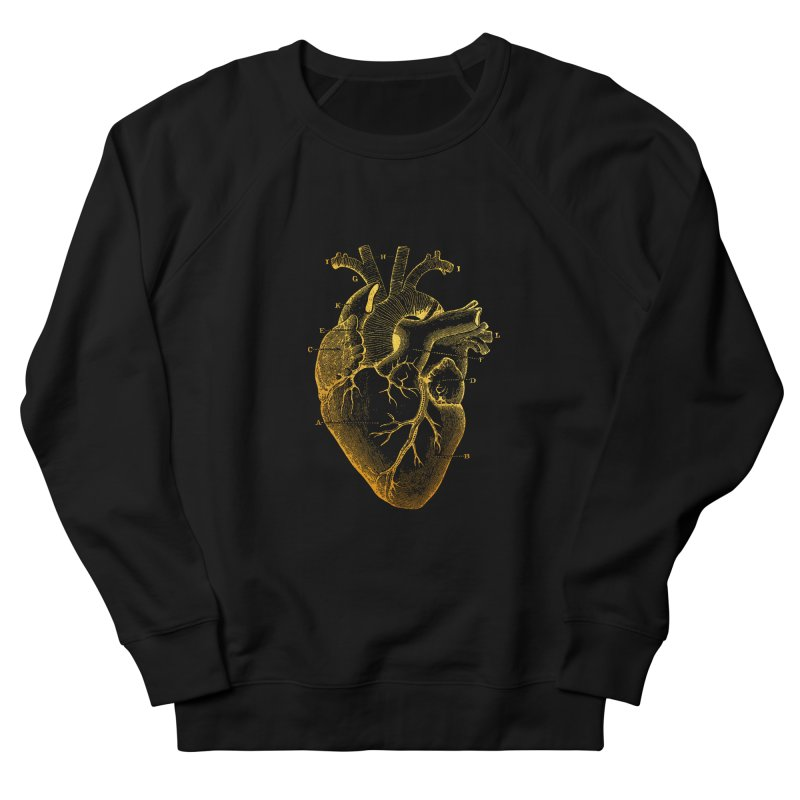 Heart Of Gold Women's French Terry Sweatshirt by Paddy Ribeiro