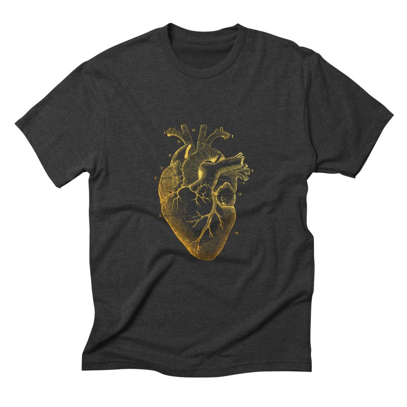 Heart Of Gold Men's Triblend T-Shirt by Paddy Ribeiro