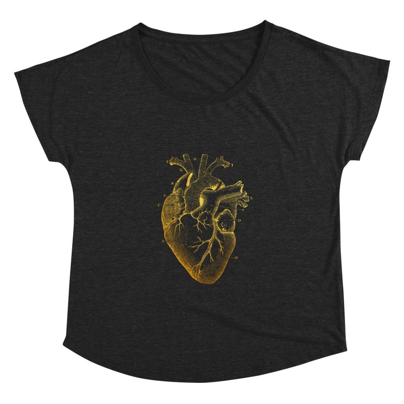 Heart Of Gold Women's Dolman by Paddy Ribeiro