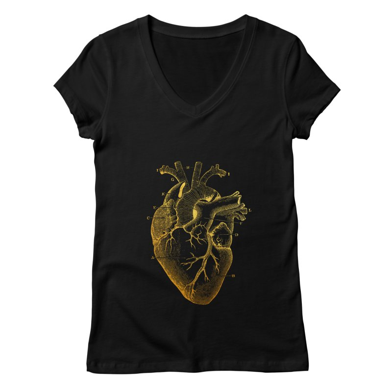 Heart Of Gold Women's V-Neck by Paddy Ribeiro